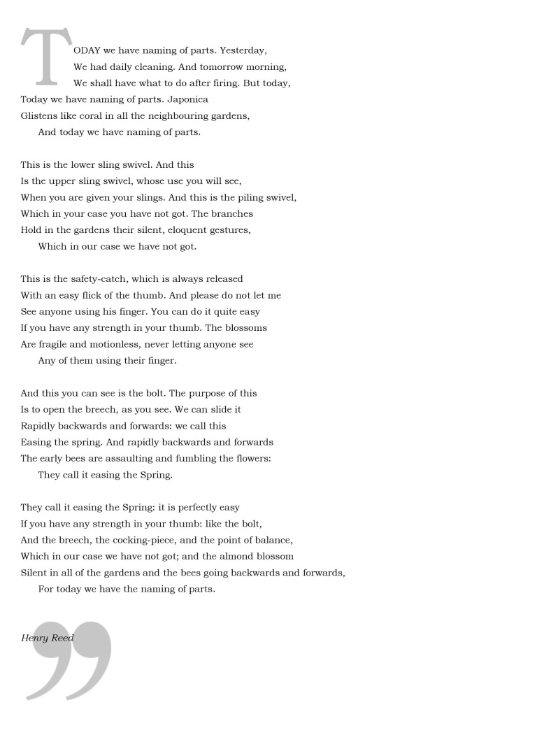 naming of parts henry reed poem